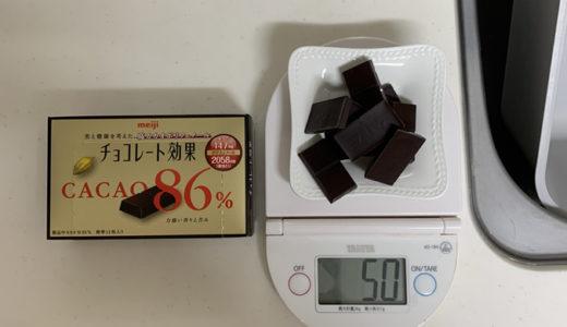 チョコレート効果cacao86%を食べて血糖値計ってみた